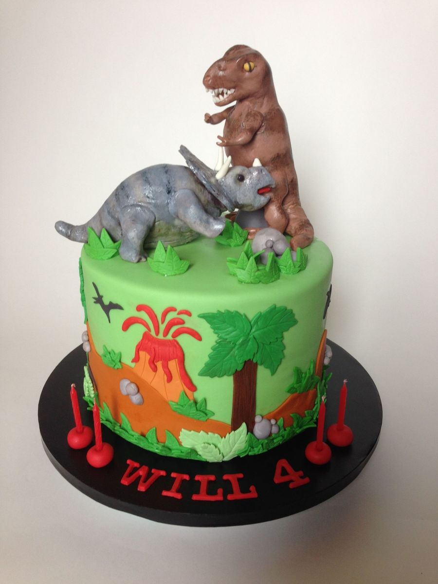 Dinosaurs Birthday Cake Images