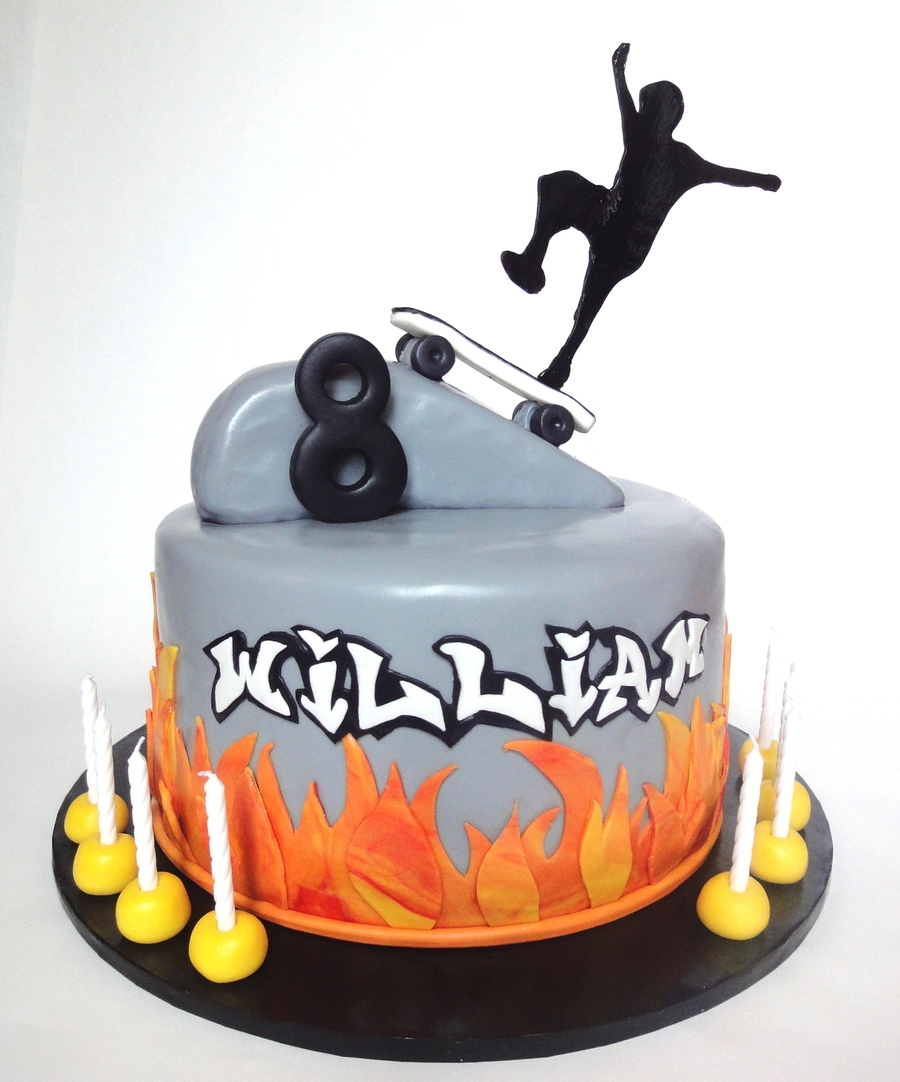 Skateboard Birthday Cake Pictures
