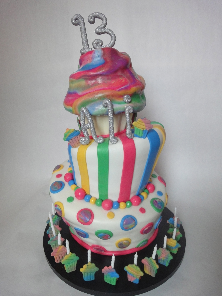 Tie Dye Cake on Cake Central