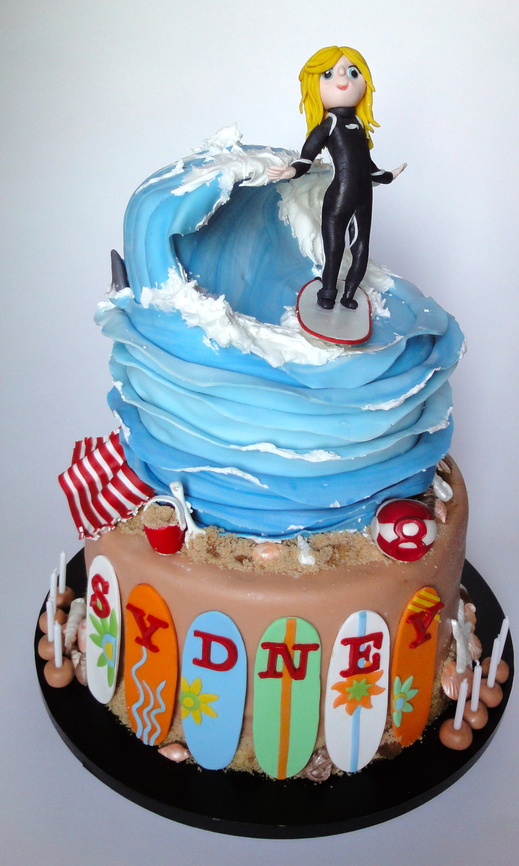 Beach Cake Toppers Birthday