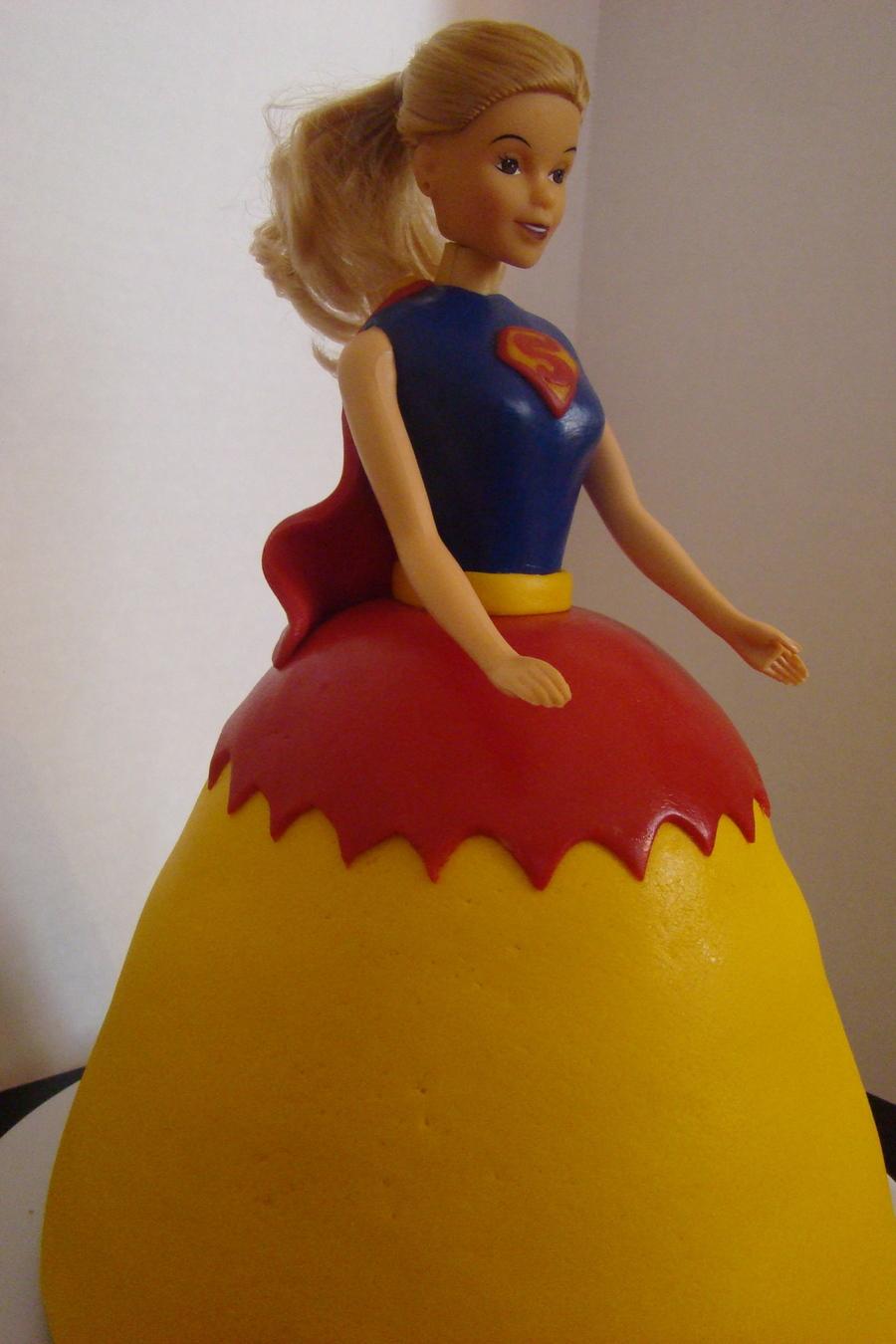 Super Girl Superhero Doll Cake Cakecentral Com