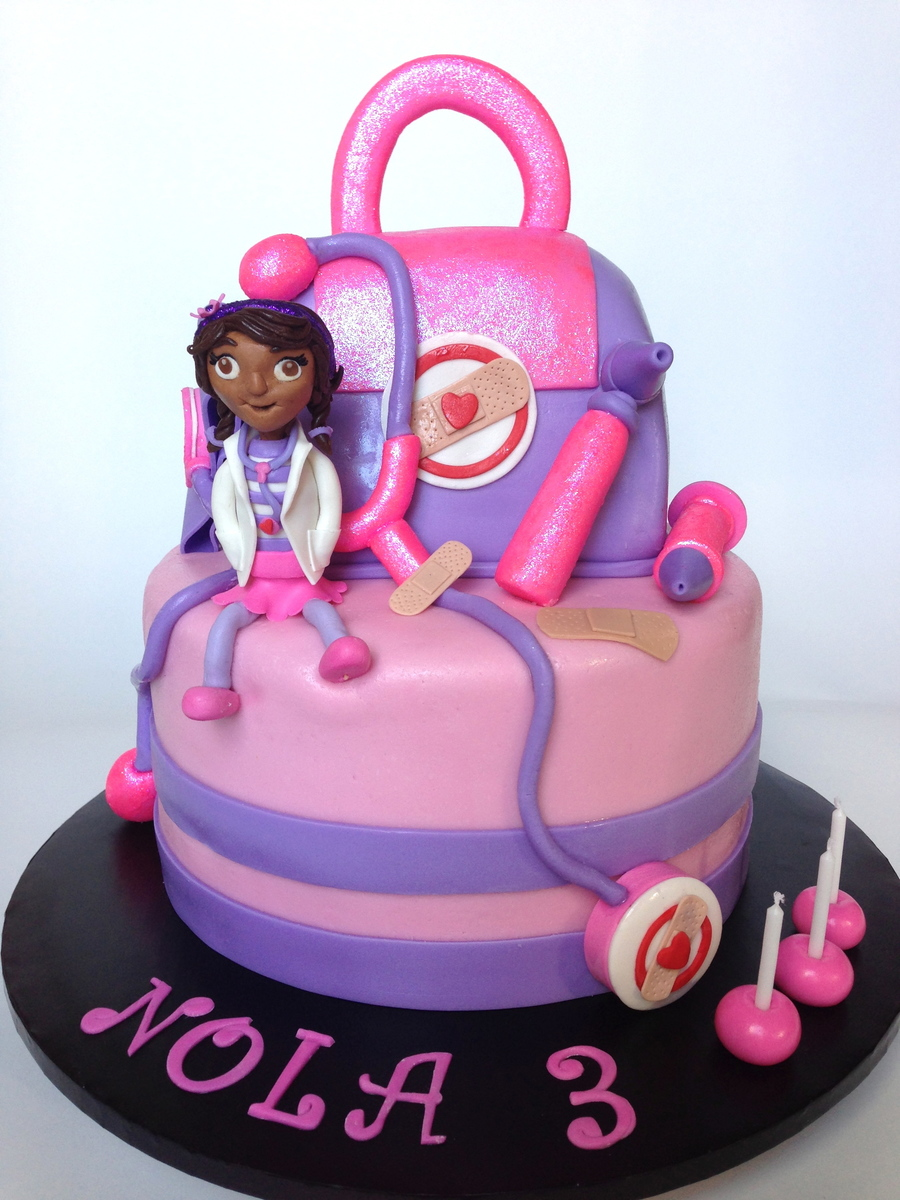 Sensational Doc Mcstuffins Birthday Cake Cakecentral Com Personalised Birthday Cards Bromeletsinfo