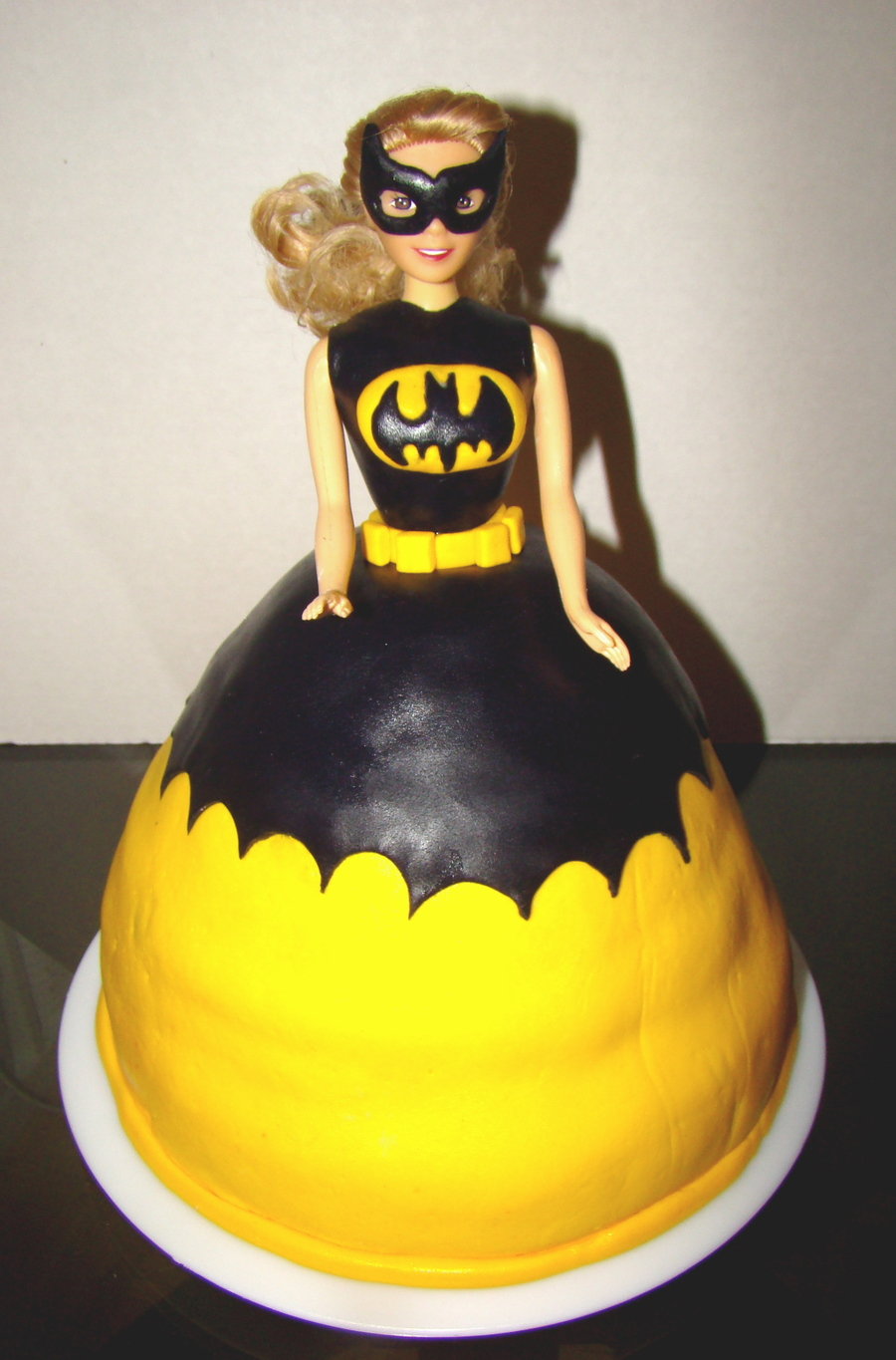 Batgirl Superhero Princess Cake on Cake Central