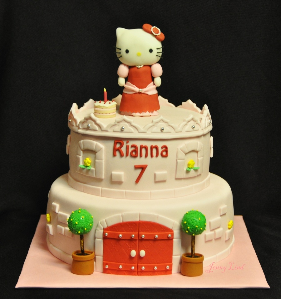 Princess Hello Kitty Cake on Cake Central