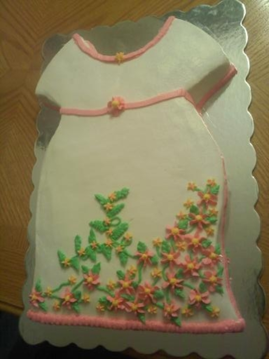 Baby Dress Cake For A Baby Shower on Cake Central