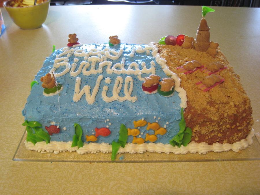 Beach Bears Birthday Cake on Cake Central