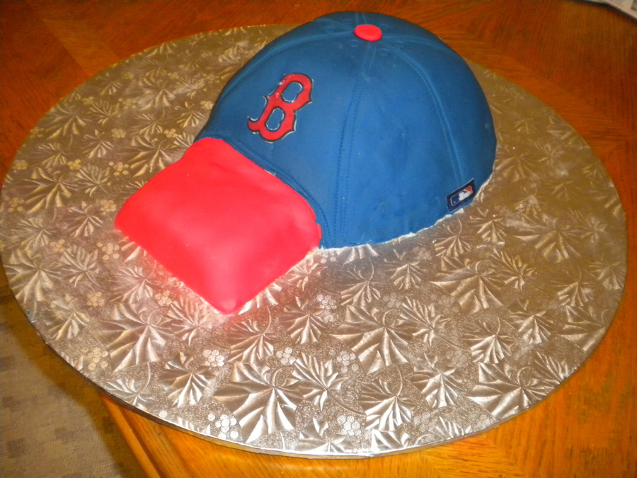 Boston Red Sox Baseball Hat on Cake Central