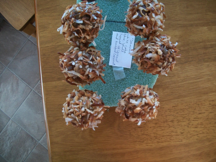 Samoa Cakepops on Cake Central