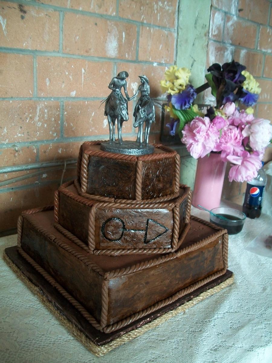 Fondant western wedding