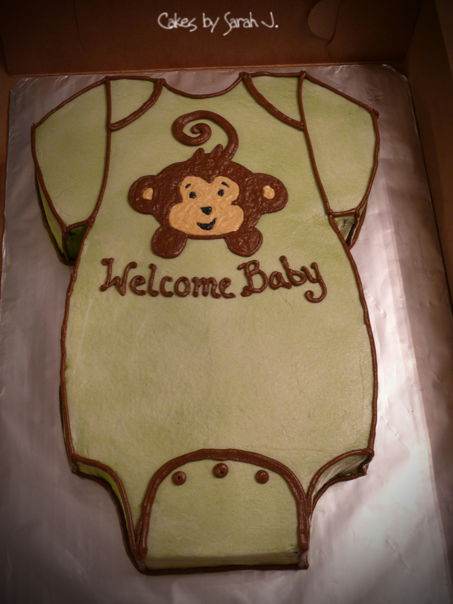 Monkey Onesie on Cake Central