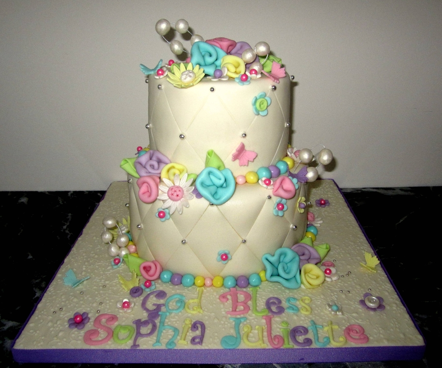 Two Tier For Baby Girl on Cake Central