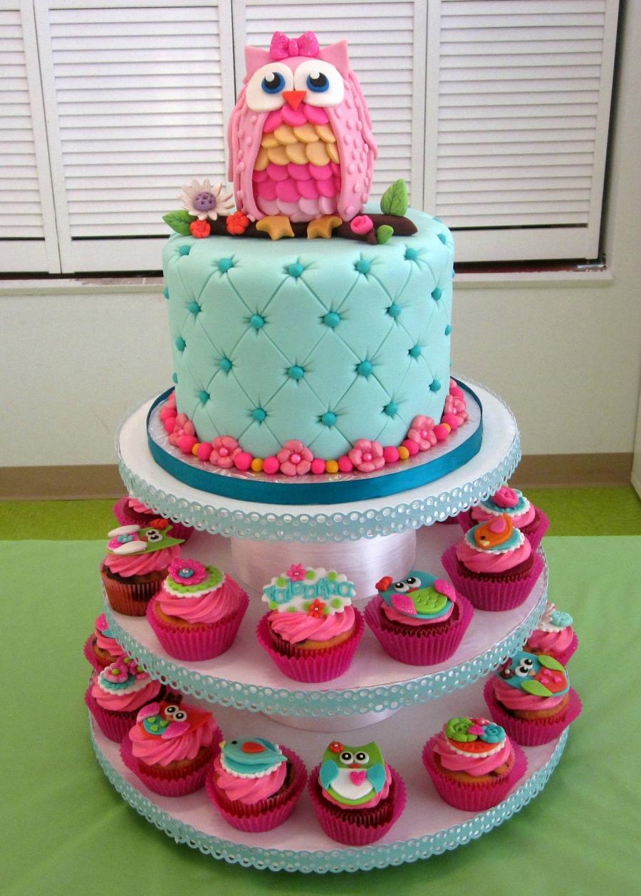 Peachy Owl 1St Birthday Cakecentral Com Birthday Cards Printable Nowaargucafe Filternl