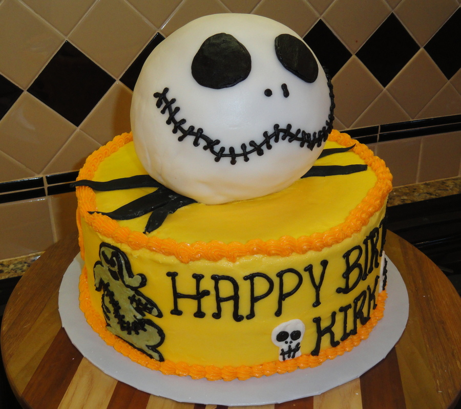 Jack Skellington Says Happy Birthday CakeCentralcom