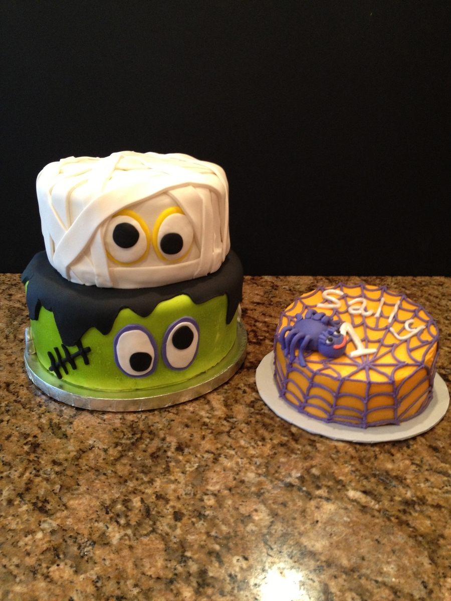 Baby Frankenstein Cake