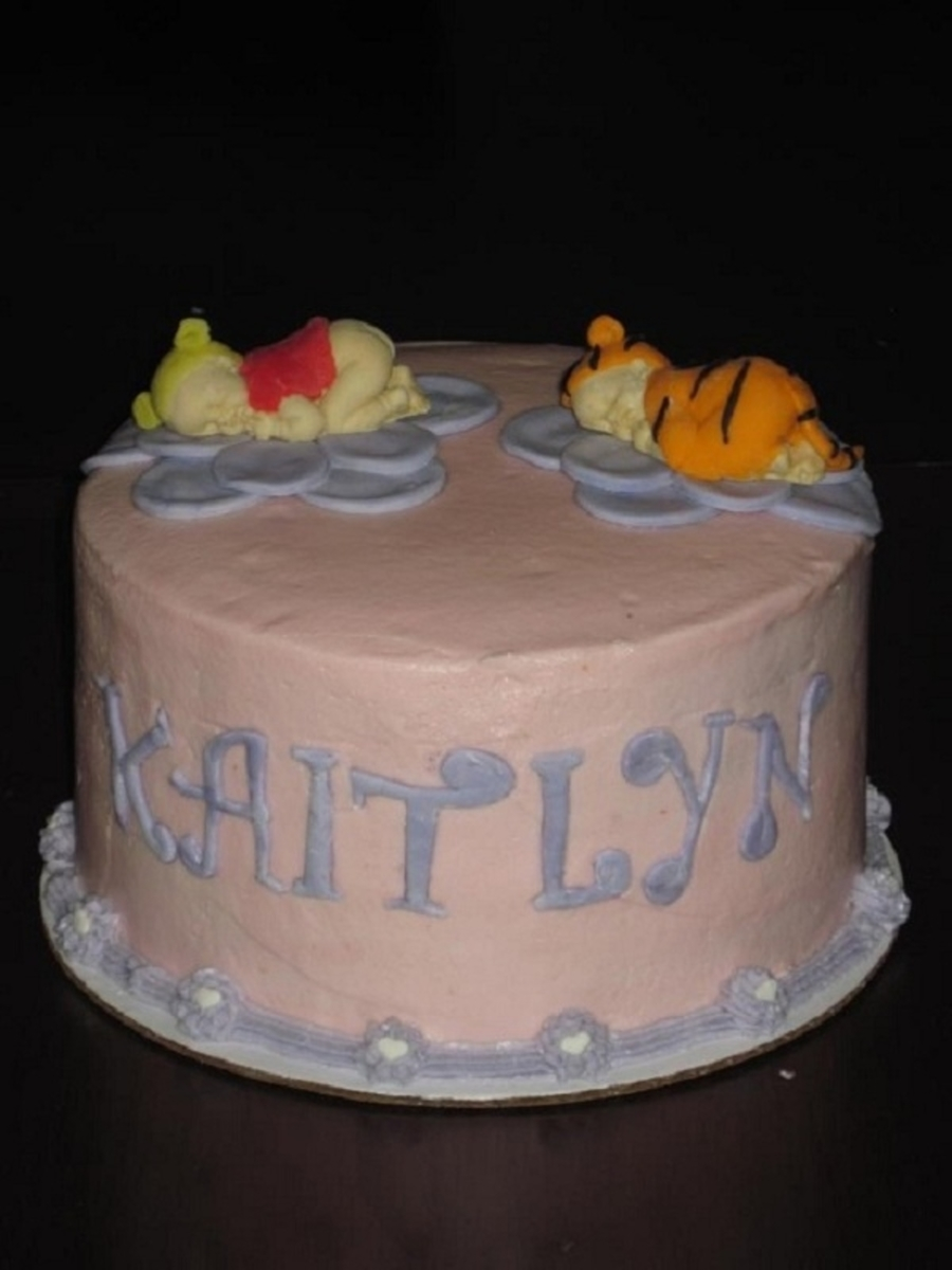 Winnie The Pooh N Tigger Baby Shower Cake On Central