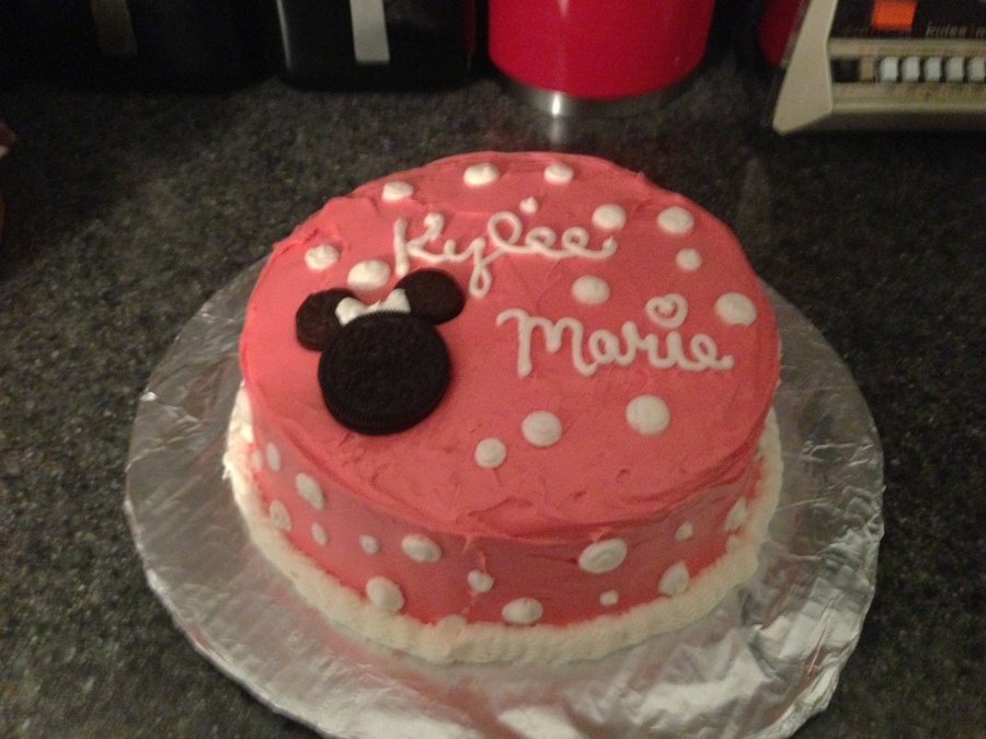 Minnie Mouse Theme Baby Shower Cake With Cupcakes Cakecentral