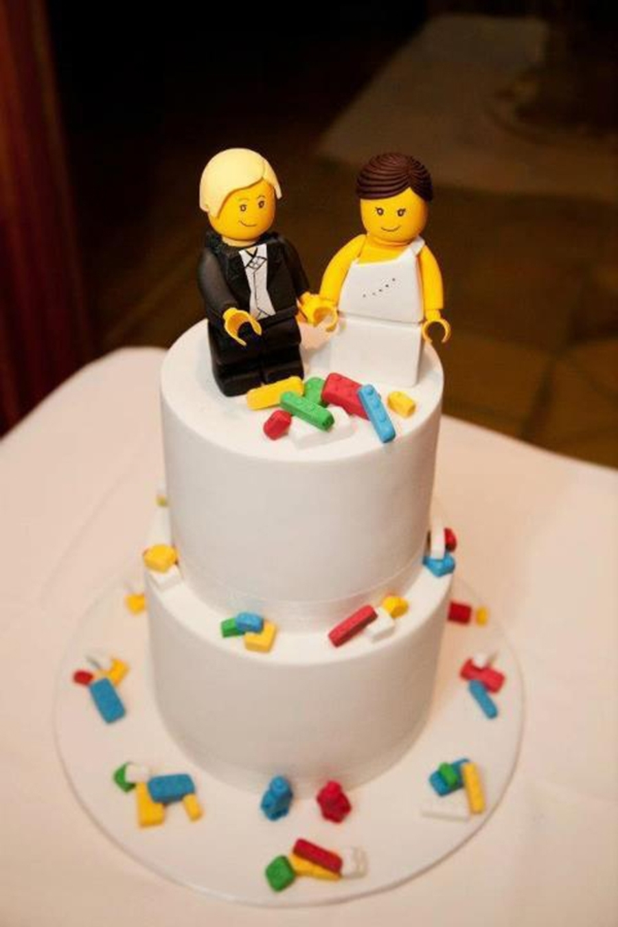 Gumpaste Bride And Groom Cake Toppers