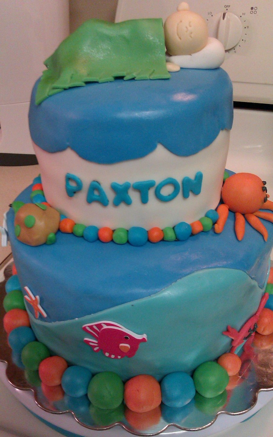 Under The Sea Baby Shower Cake on Cake Central
