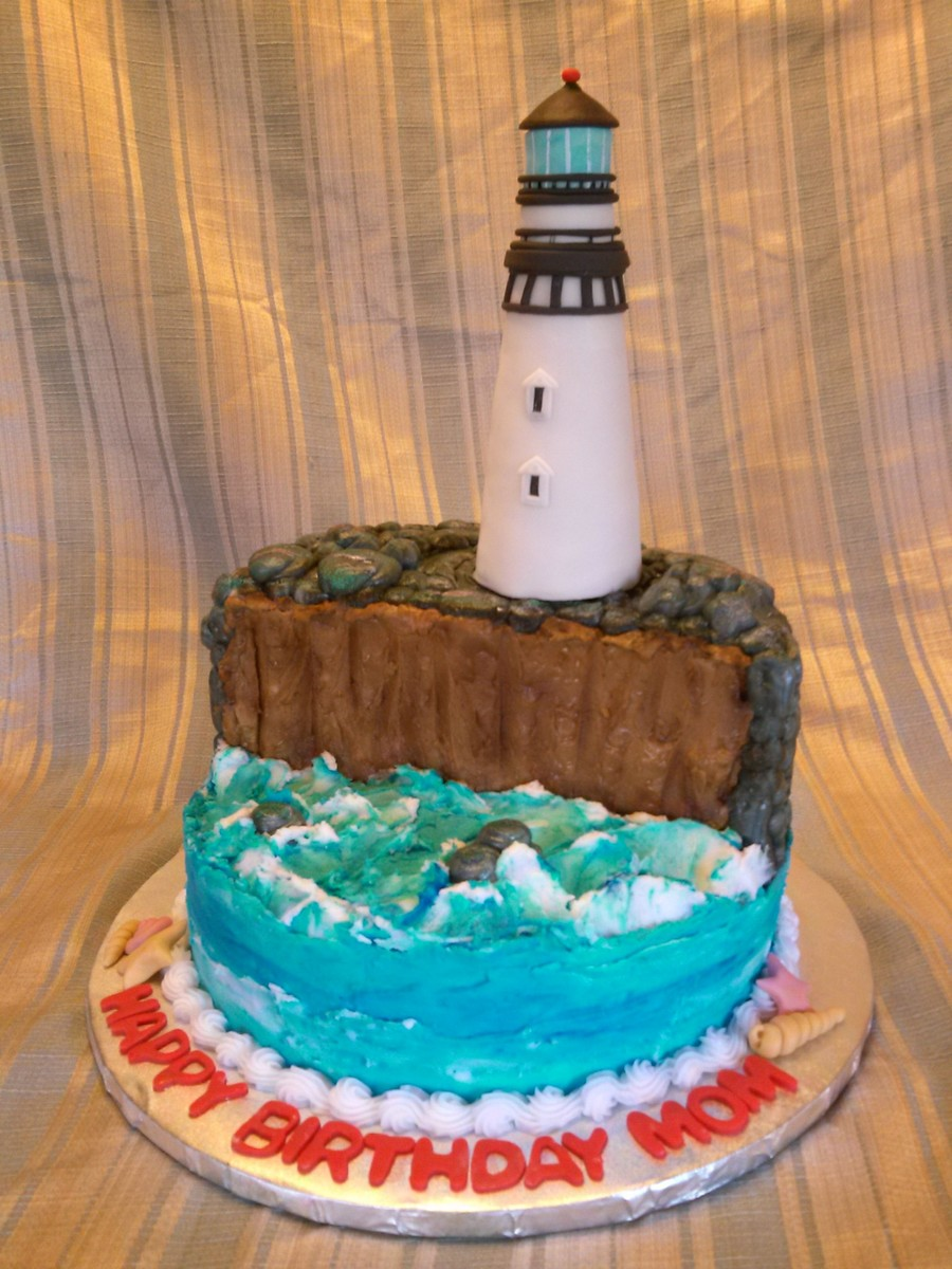 Lighthouse Birthday Cake All Butter Cream Except The