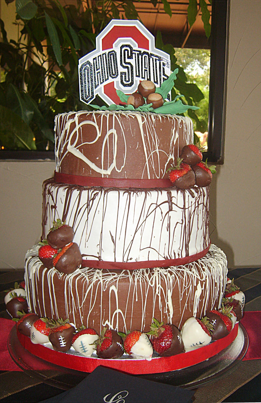 Ohio State Groom's Cake on Cake Central