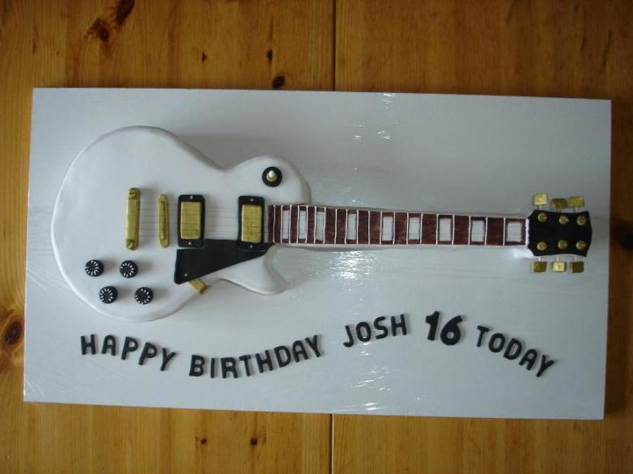 Gibson Les Paul Guitar Cake Completely Edible Apart From The Strings ...