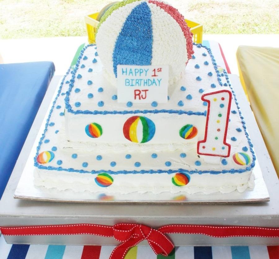 Strange Beach Ball Birthday Cake Cakecentral Com Birthday Cards Printable Benkemecafe Filternl