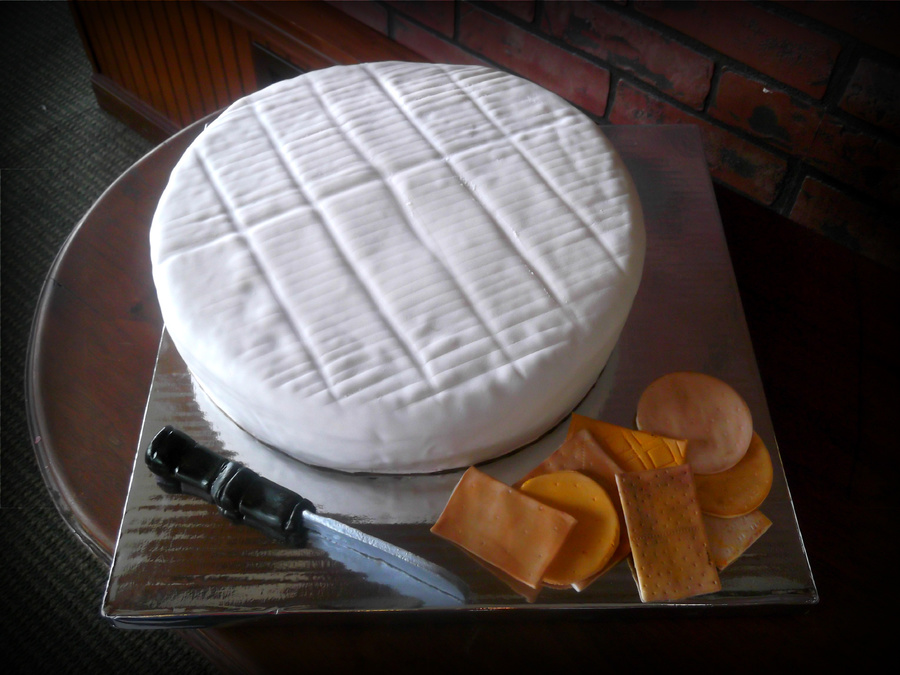 """brie Wheel"" Grooms Cake on Cake Central"