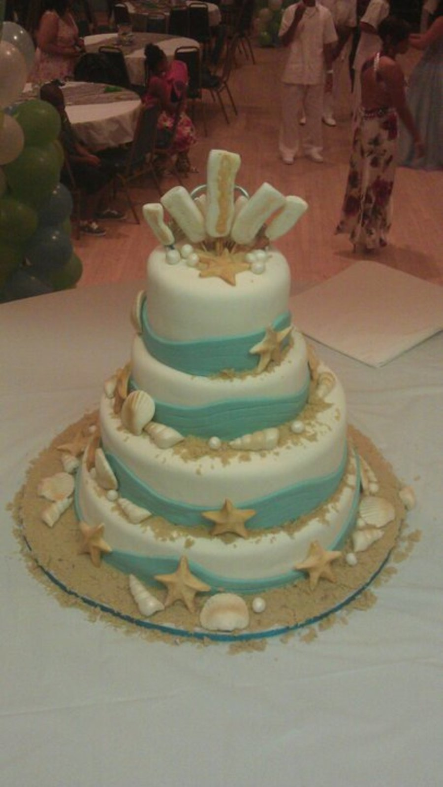 Beach Themed Quinceanera Cake Cakecentral Com