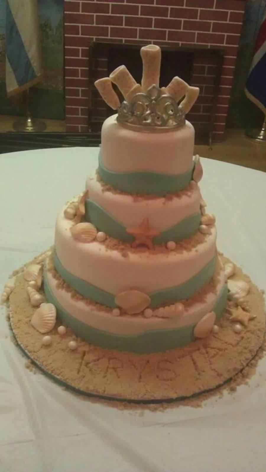 Beach Themed Quinceanera Cake Cakecentral Com