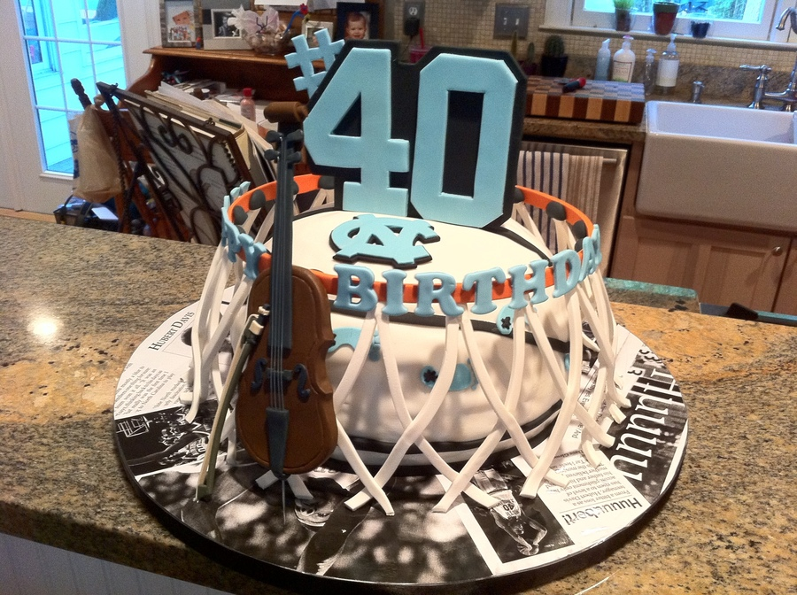 Unc Basketball Birthday Cake CakeCentralcom