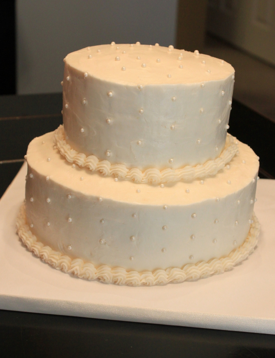 Simple Classic Wedding Cake on Cake Central