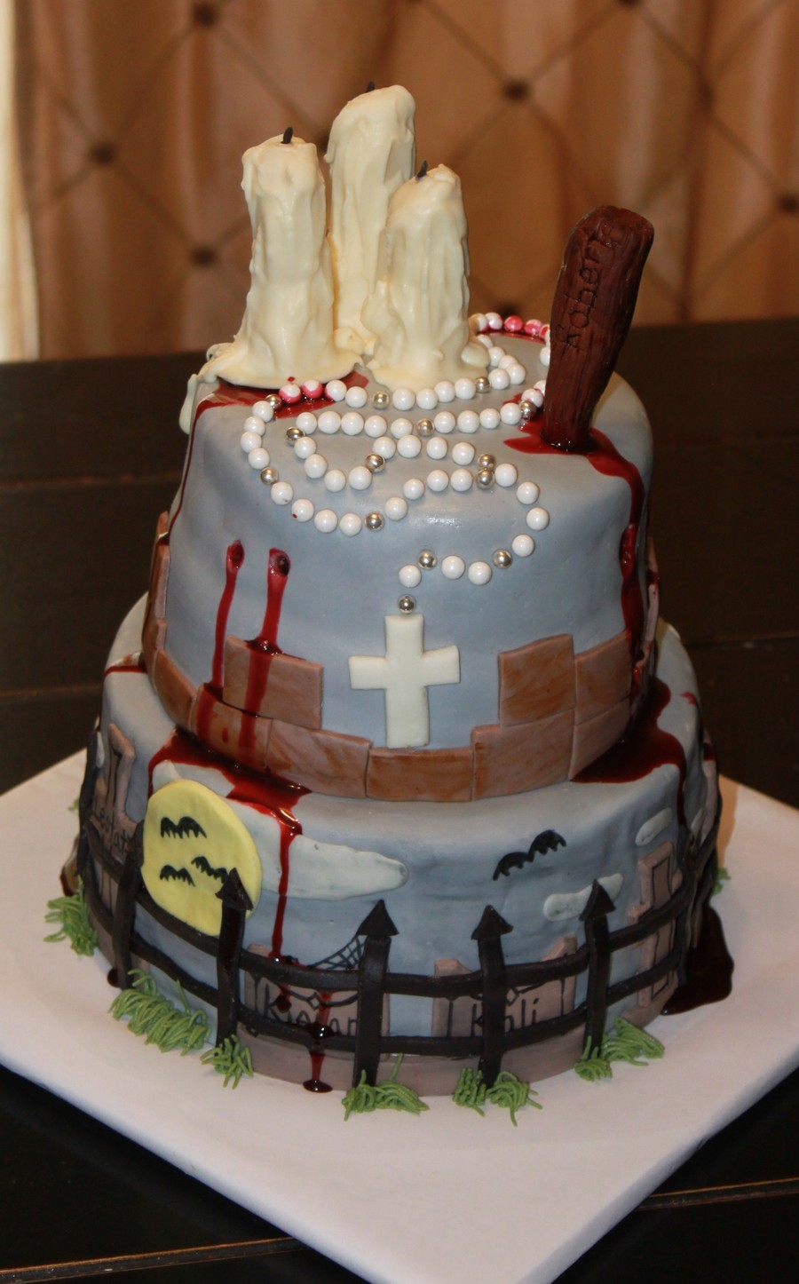 Phenomenal Vampire Birthday Cake Cakecentral Com Funny Birthday Cards Online Overcheapnameinfo