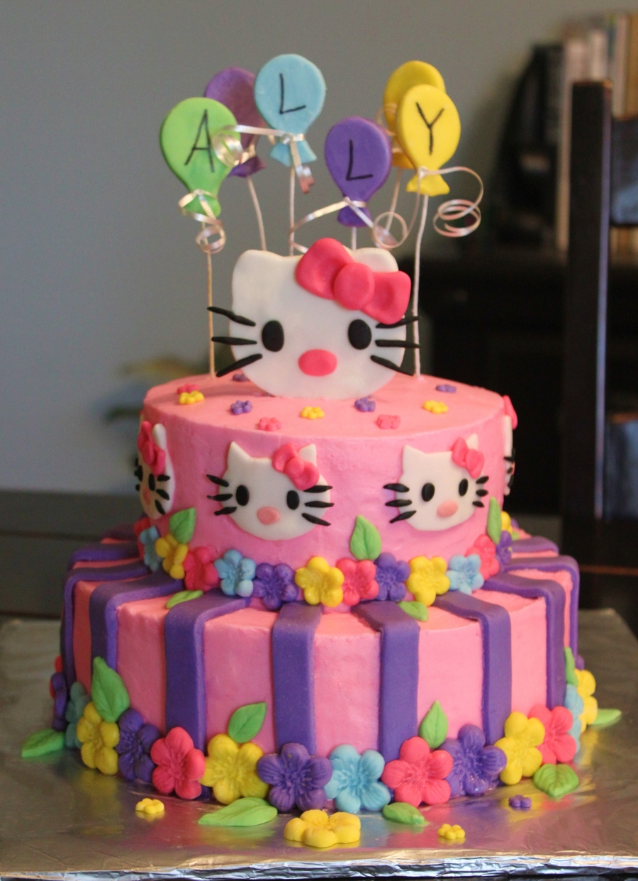 Enjoyable Hello Kitty Birthday Cake Cakecentral Com Personalised Birthday Cards Cominlily Jamesorg
