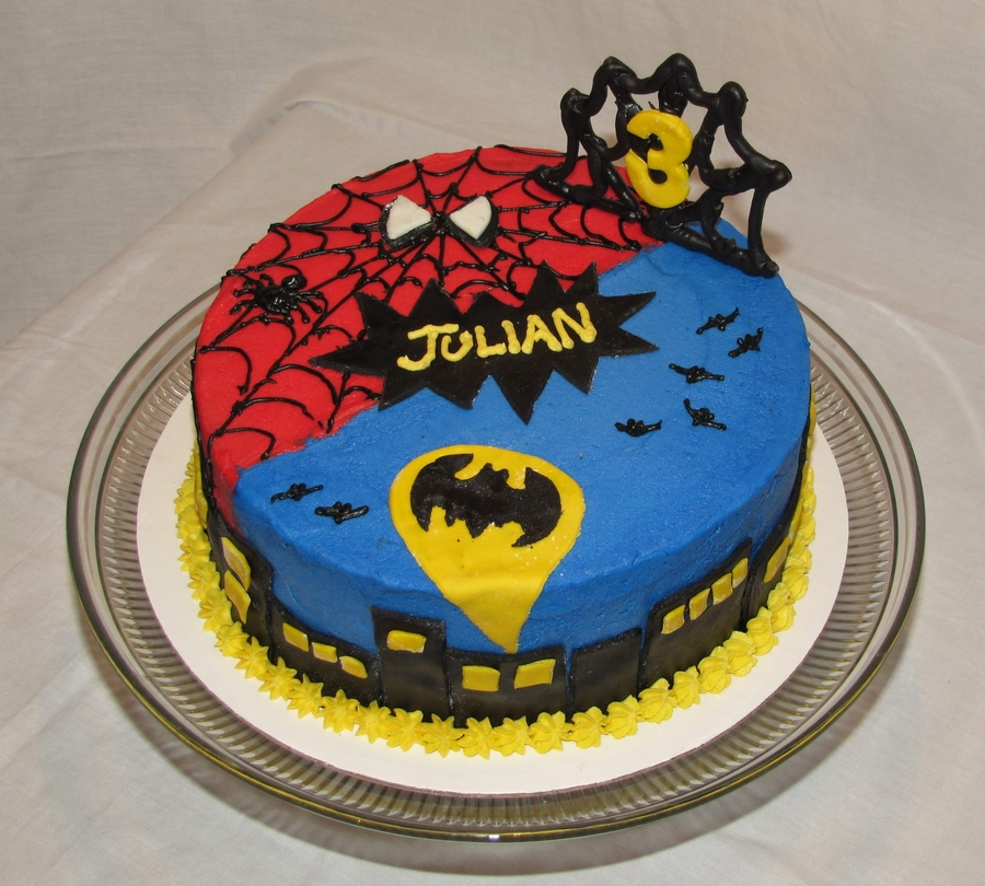 Batman Buttercream Birthday Cake
