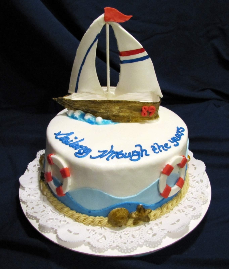 Sailboat Birthday Cake on Cake Central