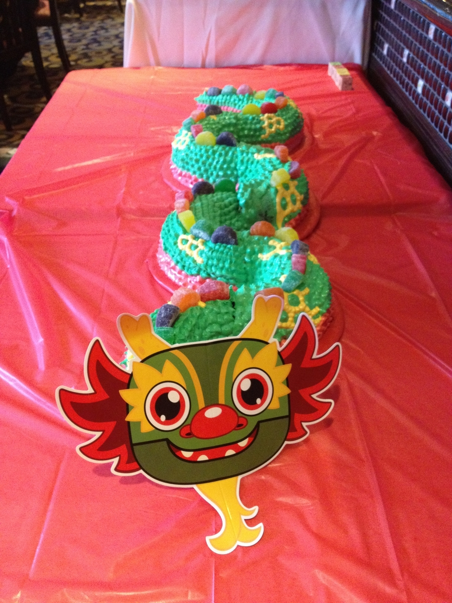how to make a chinese dragon cake
