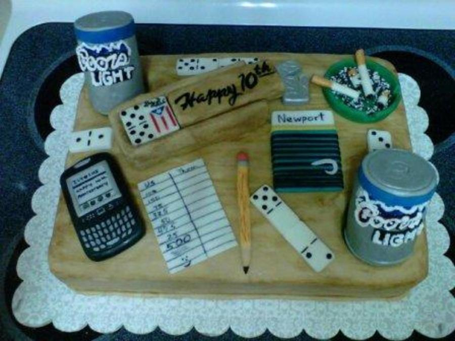 Domino Table Anniversary Cake CakeCentralcom