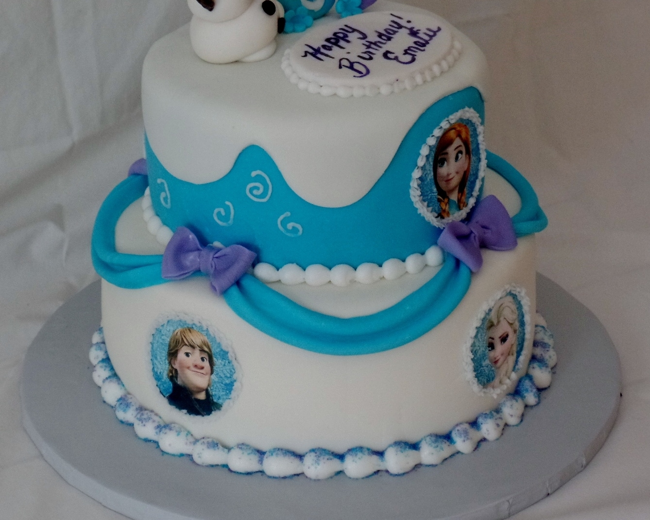 Superb Frozen Themed Birthday Cake Cakecentral Com Personalised Birthday Cards Paralily Jamesorg