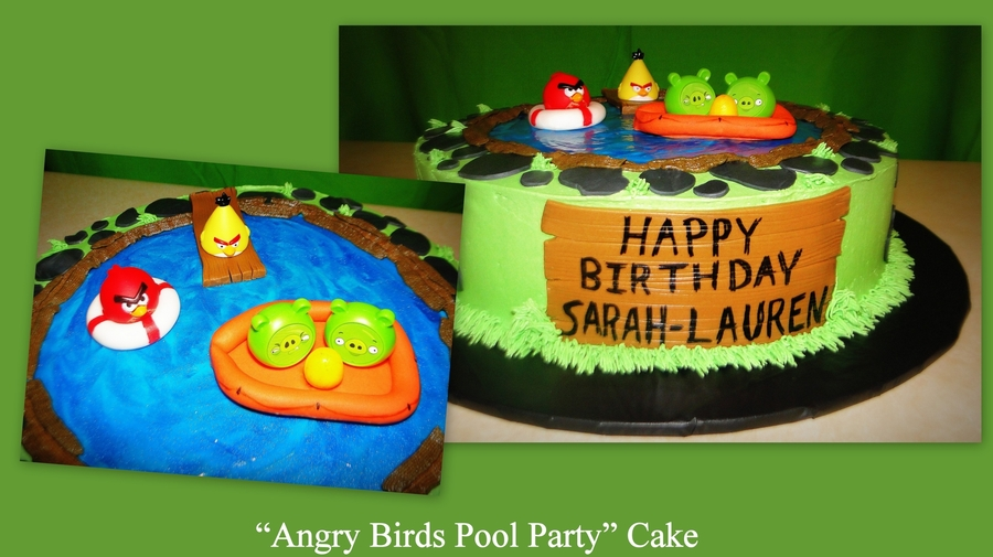 Angry Birds Pool Party Cake on Cake Central