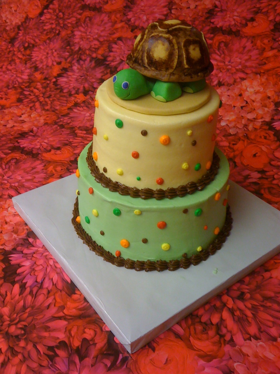 Turtle Baby Shower Cake on Cake Central