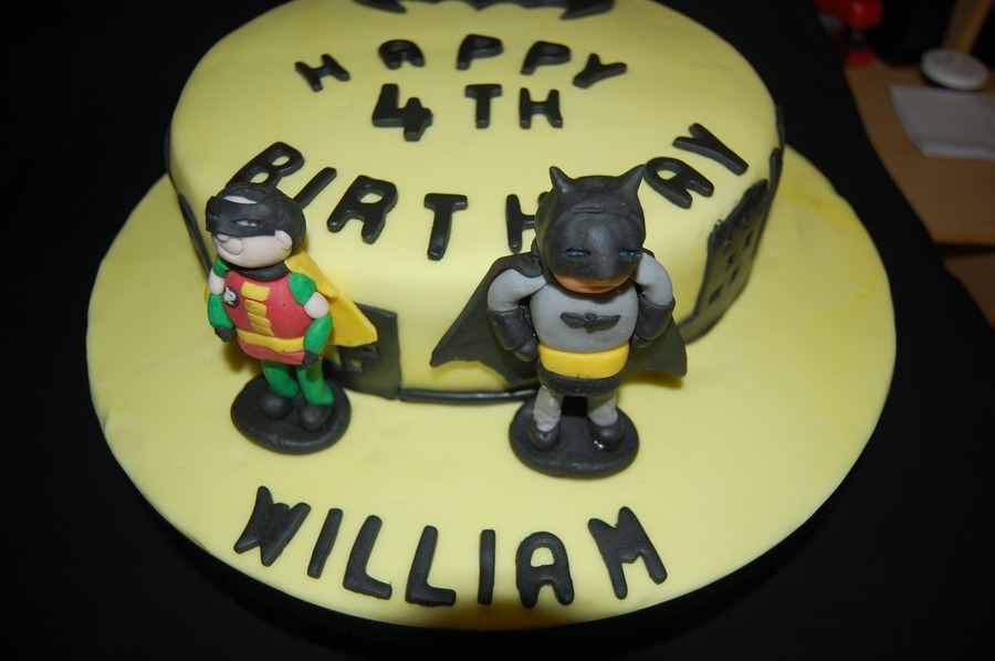 Bat Man And Robin Cake on Cake Central