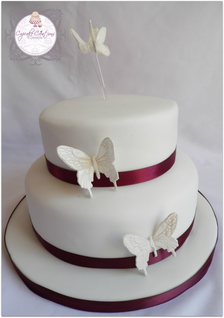 top tier wedding cakes two tier butterfly wedding cake top tier sponge bottom 21077