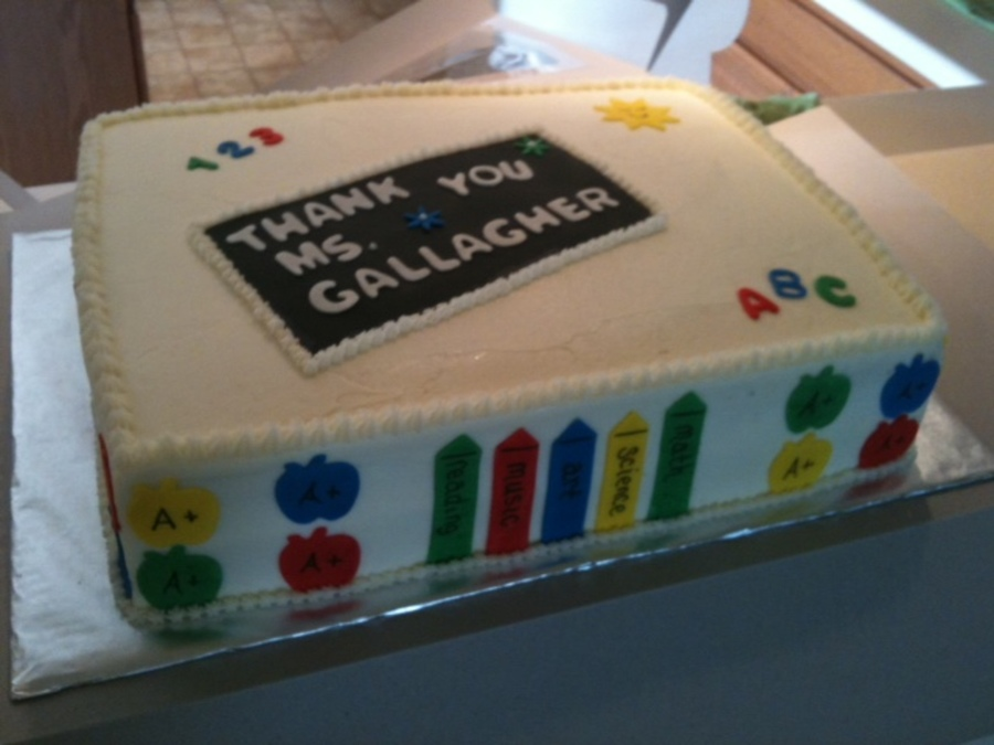 Thanks Teacher Cake on Cake Central