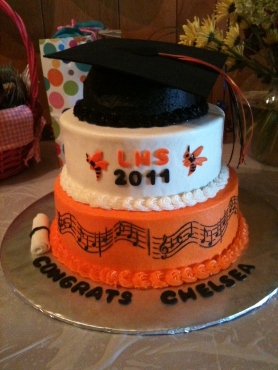 High School Graduation Cake on Cake Central