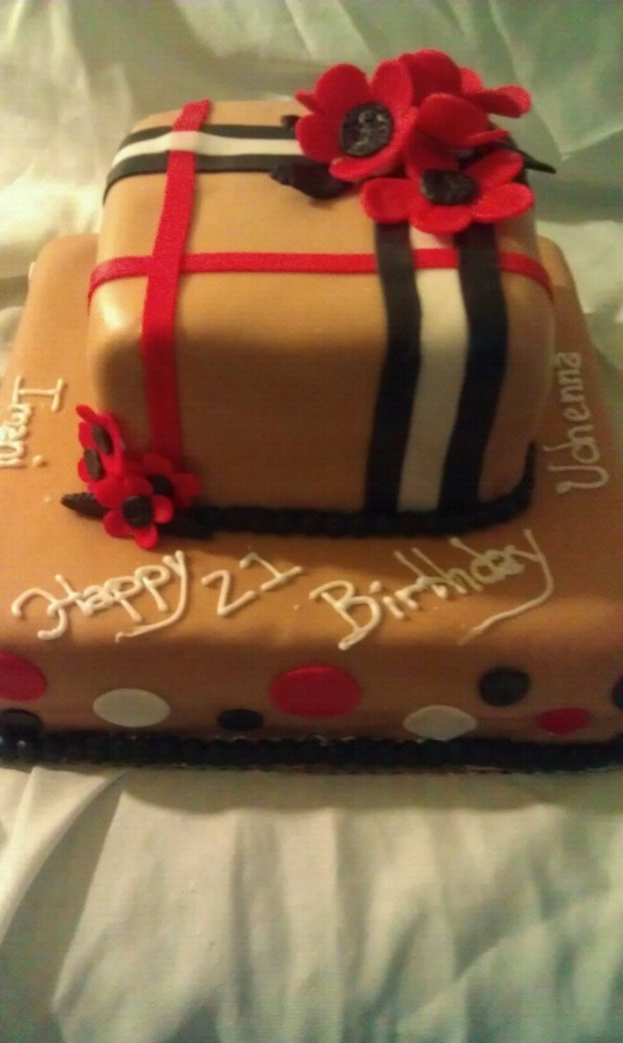 Burberry Inspired on Cake Central