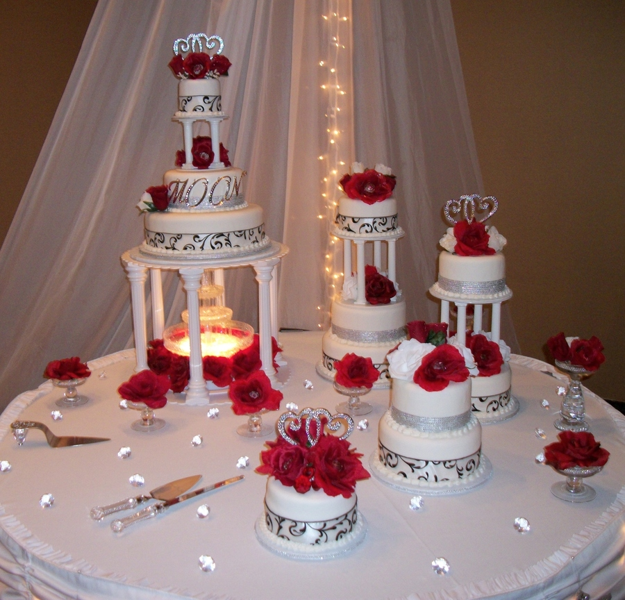 Wedding Cake Red And Black on Cake Central