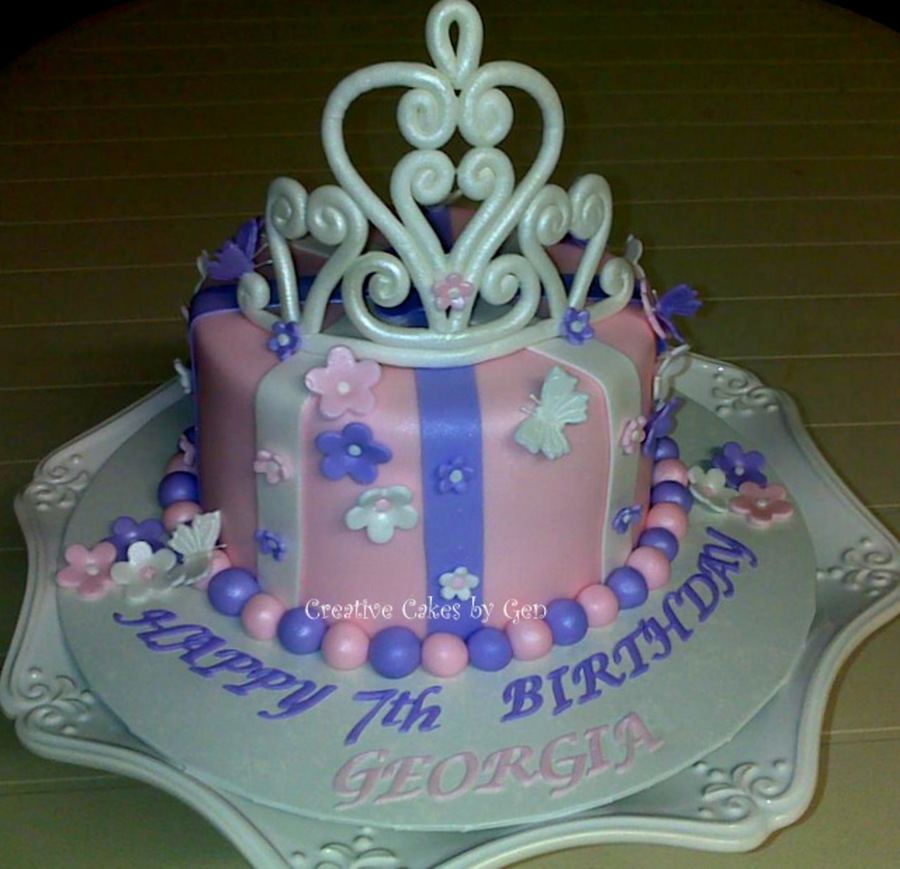 Princess Tiara Cake  on Cake Central