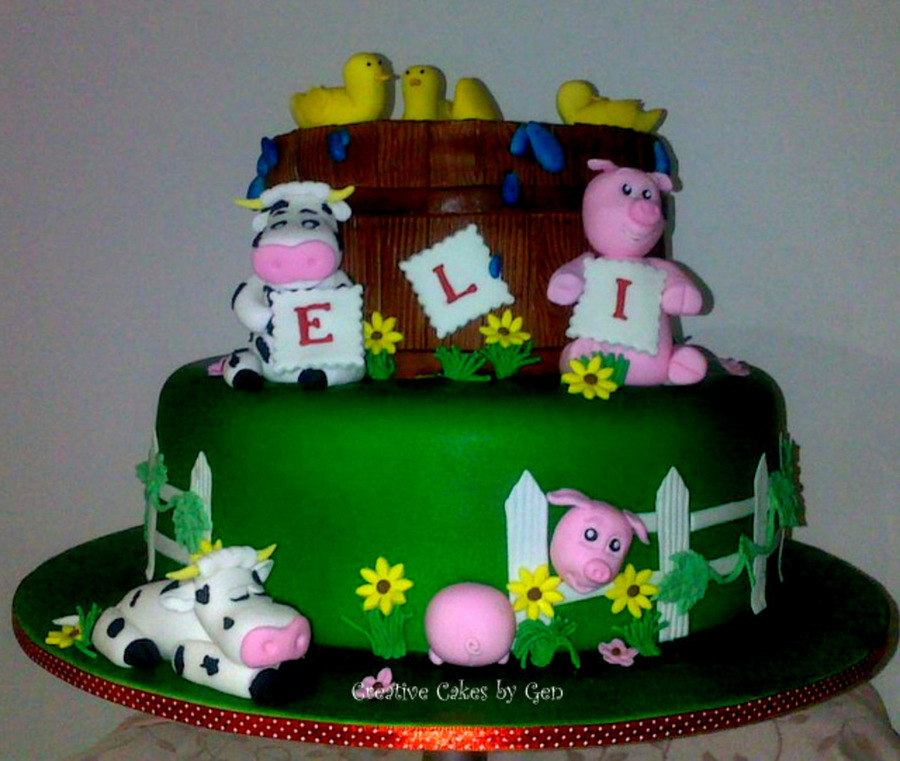Superb Farm Animal Themed Birthday Cake Cakecentral Com Personalised Birthday Cards Cominlily Jamesorg