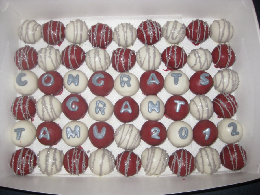 Texas A&m Graduation Cake Balls on Cake Central