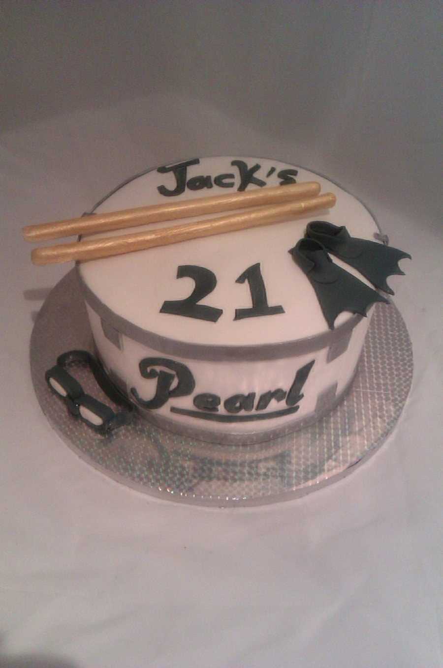For A Drummer Who Likes Swimming! on Cake Central